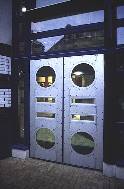 Aluminium-clad timber external doors