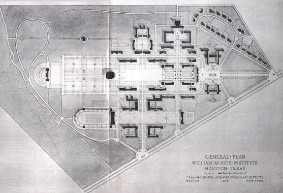 Cram's Campus Plan of 1910