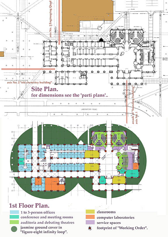 Site Plan and 1st (Grnd) Floors